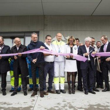 Inauguration de l'usine Evian d'Amphion-Publier