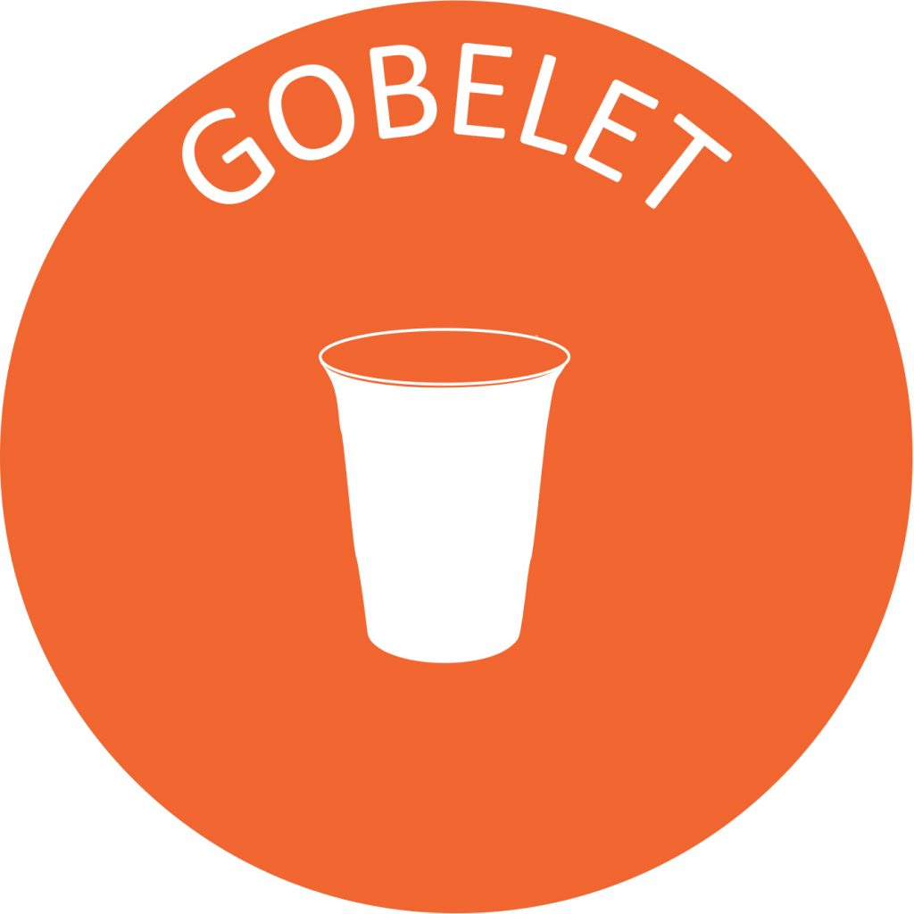 Recyclage gobelet plastique tri selectif poubelle entreprise
