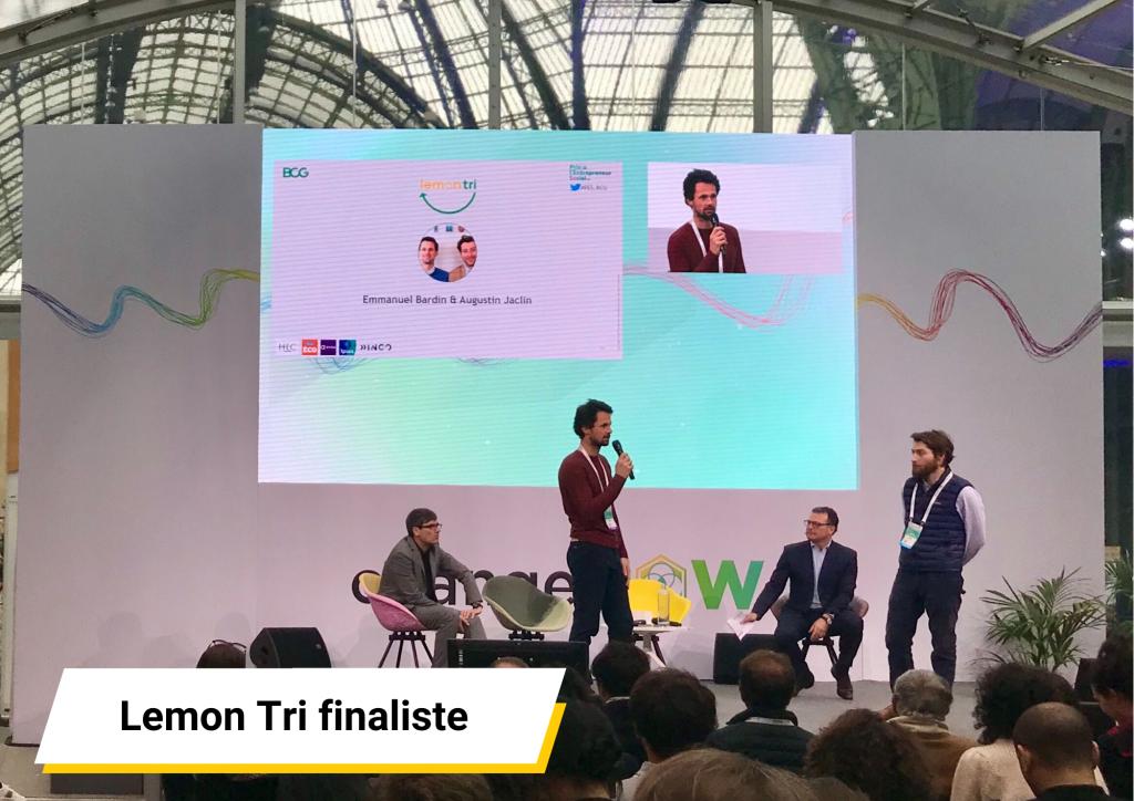 Prix Entrepreneur Social BCG Lemon Tri ChangeNOW 2020