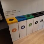 Bacs de tri pour recycler au bureau Lemon Tri