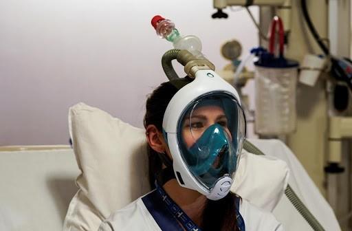 Masque décathlon avec respirateur