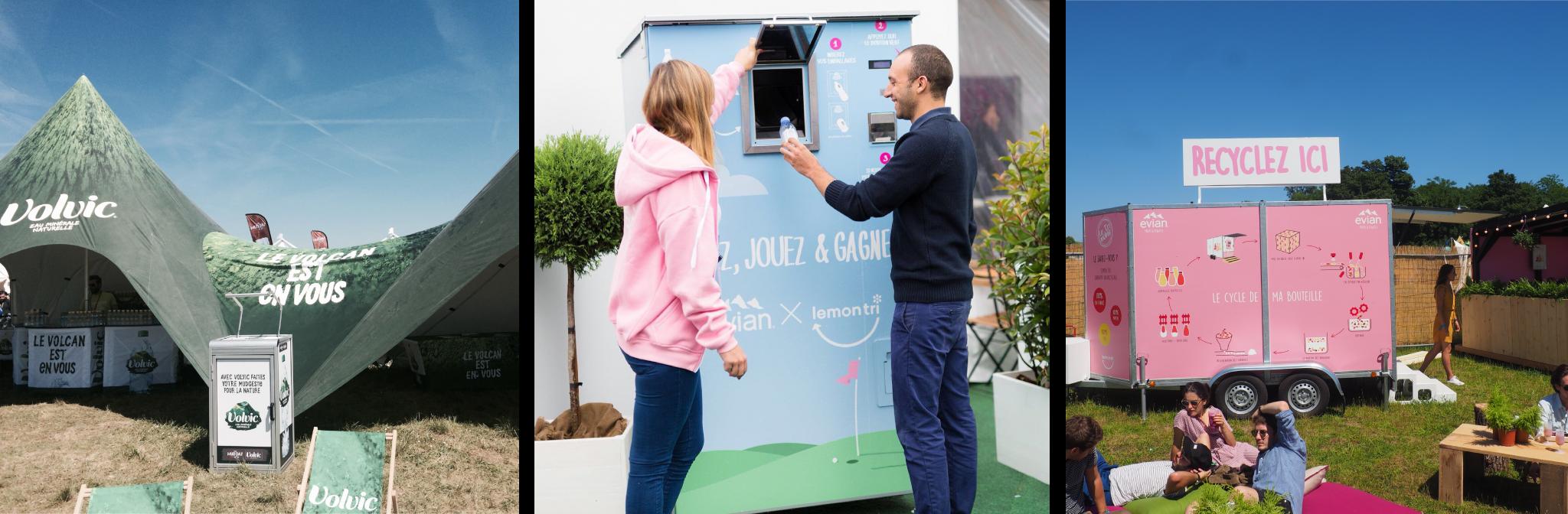 Recycler dans un évènement
