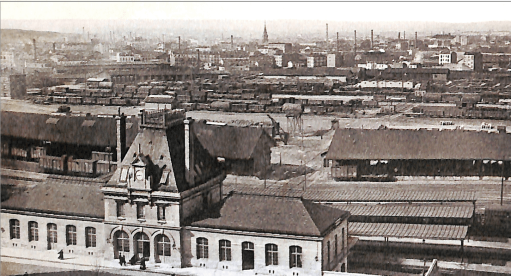 Vue de Pantin Quartier des Quatre Chemins